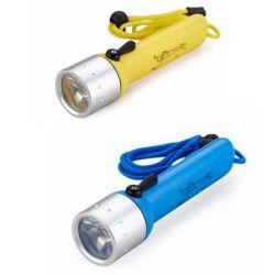 アルミニウムダイビングの懐中電燈、防水IP68 LEDのクリー族XPEのダイビングのトーチライト、4AA電池