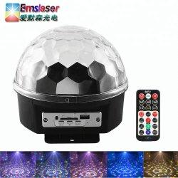 Simva Bluetooth MP3 диско-участник фонари 9 Цветной светодиодный индикатор вращающейся Crystal Magic шаровой шарнир с помощью пульта дистанционного управления высокого качества привели вращающихся Crystal Magic шаровой шарнир