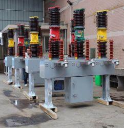 im Freiensicherungs-3-phasiges Porzellan Pole des Vakuum35kv/Silikon-interner und externer CT-Sprung-Betriebsmechanismus-Edelstahl-Mechanismus-Gummikasten
