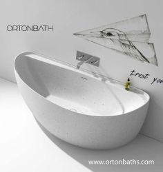 새로운 Cupc 단단한 지상 온천장 목욕탕 아크릴 이음새가 없는 위생 상품 독립 구조로 서있는 욕조