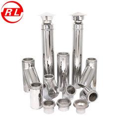 Rete di tubazioni doppia del condotto di scarico del camino della stufa dell'acciaio inossidabile con il sistema della serratura di torsione