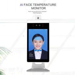 Serveur Cloud Multi language as caméra thermique infrarouge de reconnaissance de visage du système de surveillance de température