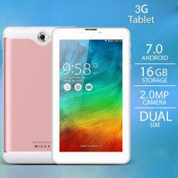 7최신 Android 10 1GB + 8GB 쿼드 코어 1.6GHz CPU WiFi Bluetooth 4.0 전화 듀얼 SIM 카드 슬롯이 있는 3G 태블릿 통화
