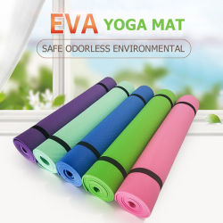 تصميم غير منزلق مقاوم للانزلاق وشعار مخصص لطباعة Cork EPE EVA PVC Jute PU NBR Natural المطاط Eco سجادة تمارين اليوغا الودية للبالغين