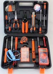 Горячая продажа 46ПК на базе набора инструментов в пластмассовом ящике ручного инструмента