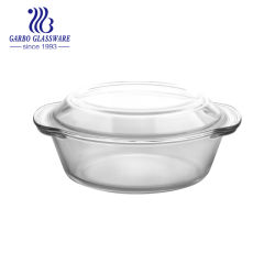 電子レンジのふたスープ鍋(GB13G13205)が付いている安全なホウケイ酸塩のガラス・ボール