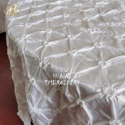 Panno di tela bianco della Tabella del taffettà della rotella della pesca di Hualai per la fabbrica di cerimonia nuziale