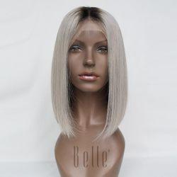 أعلى جودة 100 ٪ من شعر العار الإنسان لاس الجبهة شعره مستعار بوب شعره لفقدان الشعر الناس
