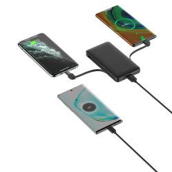 Cadeau promotionnel Banque d'alimentation avec câble intégré multifonction 3 en 1 Alimentation de la batterie pour Mobile