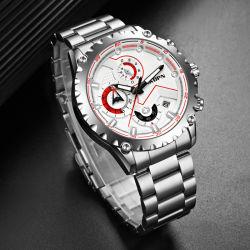 [أكدبين] رجال [رس] مؤشر رياضات يد ساعة [هوممس] رياضات تقويم ساعة كوارتز مضيئة مصنوعة في الصين ساعات يد من الفولاذ المقاوم للصدأ