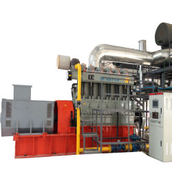 300kw - 500kwやしカーネルのシェルのわらの殻の生物量のガスの発電機