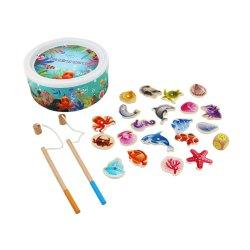 Fishining Educatonal Bebé brinquedos de madeira com espécies de peixes de jogos para crianças e as crianças