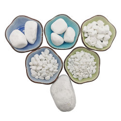 La dolomie Dolomie de pierre naturelle des graviers de pierre blanche neige pour les jardins