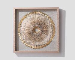 벽 장식 럭셔리 3D 벽 아트 장식 골동품 광장 금속 벽면의 예술 장식