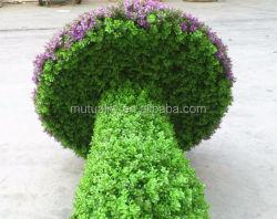 نحت الفطر محاكاة جدار النحت الأخضر نبات النحت الأخضر الزائف البلاستيك المصنع نحت فني نحت اصطناعي للحيوانات