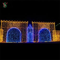 Motif de la mosquée a conduit le Ramadan 2D et 3D de la corde décoration lumière chaîne