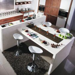 Losa de Piedra de mármol artificial cocina encimera de cuarzo vanidad Ático mosaico para proyecto hotelero