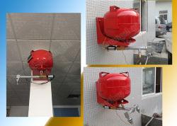 16L自動ハングHfc227eaの消火システムFM200消火器