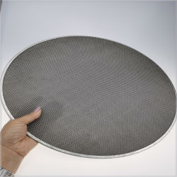 O de hierro negro de malla de alambre de acero inoxidable para la filtración de la industria del caucho de la extrusora de plástico