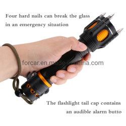 Torcia elettrica di soccorso di sicurezza /T6 LED polizia con auto Taglierina per cintura di difesa