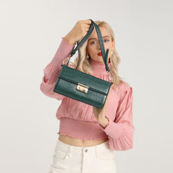 2021 مصنع الصيف بيع بالجملة مباشر أفضل بيع المرأة حقيبة S حقيبة الموضة للسيدات على شكل حقيبة يد Crocodile قفل حقيبة الكتف Crocodile Crocodile مع أفضل سعر