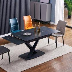 New Style kleurrijke vervormde benen eetkamer Tile Top Dining Uitschuifbare keramische tafel