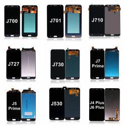 Galaxy J5 J7용 J530 J730 LCD 스크린 Max Prime PRO 2017 Neo J700 J710 J4 J6 Plus 터치 디지타이저를 표시합니다