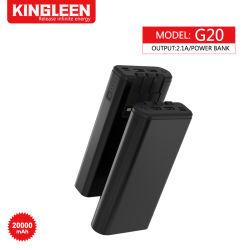 20000 mAh banco alimentação carregador portátil USB duplas 5 Cabo de saída: IP & T-C & V8; bateria de telefone celular externa com luz LED para telefone celular Tablet