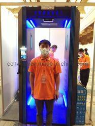 Corpo humano Porta de desinfecção com inspeções termográficas de Controle de Acesso