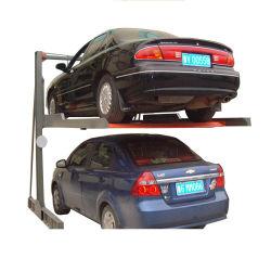 Salvare l'elevatore idraulico meccanico semplice di parcheggio dell'automobile dei 2 livelli dello spazio