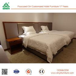 Modernes hölzernes Doppelbett-Raum-Möbel-Hotel-Schlafzimmer-Mahagoniset