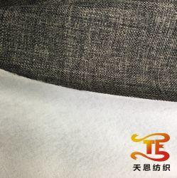 100% poliéster Faux Tejido de lino con el algodón la parte posterior de sofá