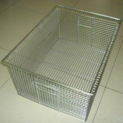 Caja de almacenamiento de malla de alambre canasta de metal