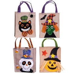 Sac cadeau d'halloween citrouille Chat Noir Blanc sorcière mignon petit portable Ghost Ghost sac de bonbons