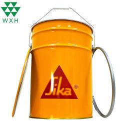 Sika Company 23L Grand Vide pour la peinture de godet d'étain métal, de la glace seau d'alimentation d'usine Rng platine ronde de l'étain du tambour avec fer Hoop