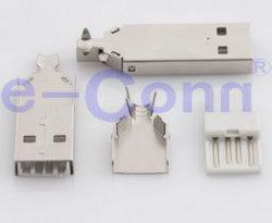 USB 2.0 типа припоя разъем