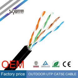 Cavo esterno impermeabile della rete di prezzi di fabbrica di Sipu UTP Cat5e CAT6