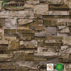 Effekt-Muster Belüftung-Wand-Papier des Ziegelstein-3D für Hauptwand