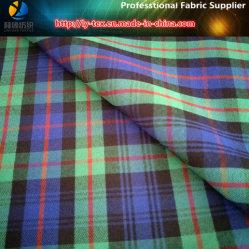 Polyester-Twill-Garn gefärbter CheckSpandex/elastisches Shirting Gewebe für Kleid/Hose (YD1114)