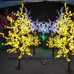 2 м высоты Фестиваль Уличных оформление LED Черри Блоссом дерево лампа