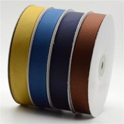 Imprimé personnalisé 100% Polyester couleur solide ruban Grosgrain