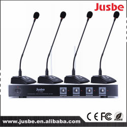 Microphone de conférence sans fil 12V Power VHF 4 voies Professional Wireless