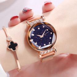 Горячий продавать моды дамы смотреть звезды неба набора женщин часы магнитных наручные часы кварцевые часы