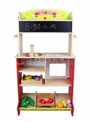 يزعم تصميم جديدة مضحكة لعبة خشبيّ جدي لعبة متعدّد عمل متجر/مطبخ
