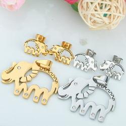 Joyería de Plata en forma de elefante Colgante Collar de acero inoxidable de Navidad