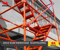 Zolo Kwikstage australien de type K-stade Kwik forme l'anneau de verrouillage à quatre voies tableau de l'étayage Échafaudage des tours