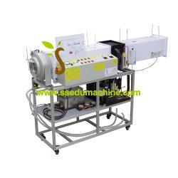 Matériel didactique conditionnement air de recirculation de formateur avec système d'acquisition de données de la formation de l'équipement de réfrigération