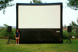 Bolsa inflable de la publicidad exterior noche de cine Pantalla (BMMS153)
