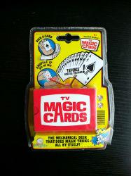 Fernsehapparat-magische Papierspielkarten