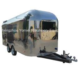 محمول Airstream الفولاذ المقاوم للصدأ الآيس كريم سريعة الغذاء شاحنة البيع